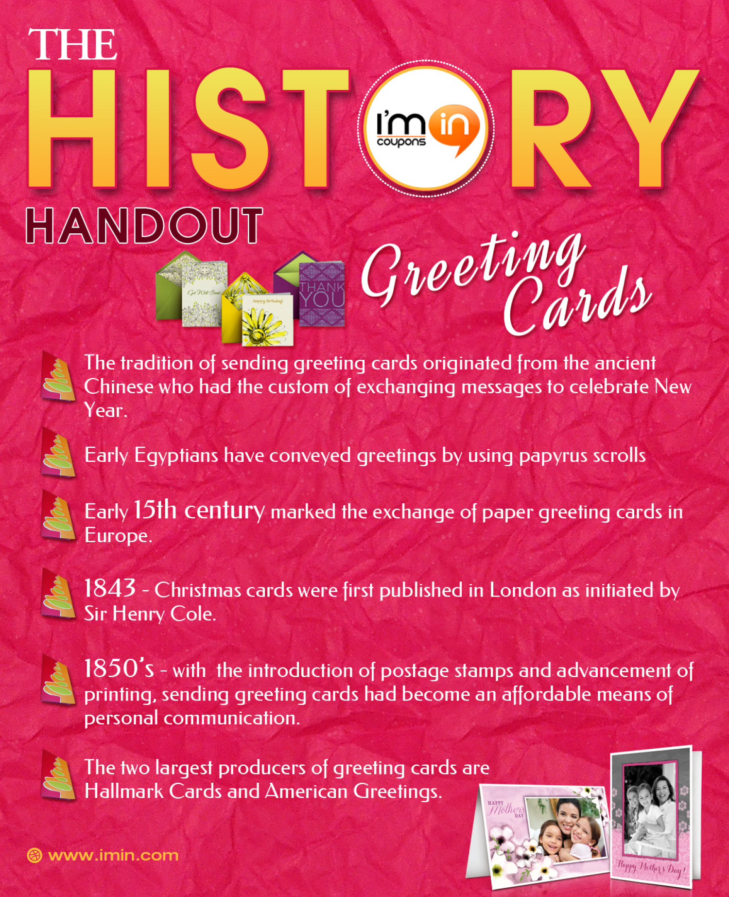 The History Handout Greeting Cards Visual