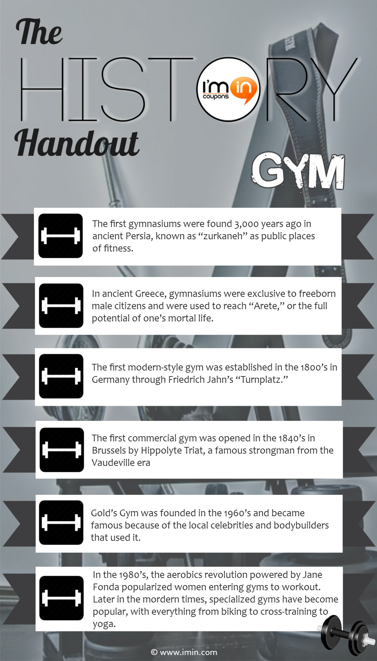 The History Handout - Gym Infographic