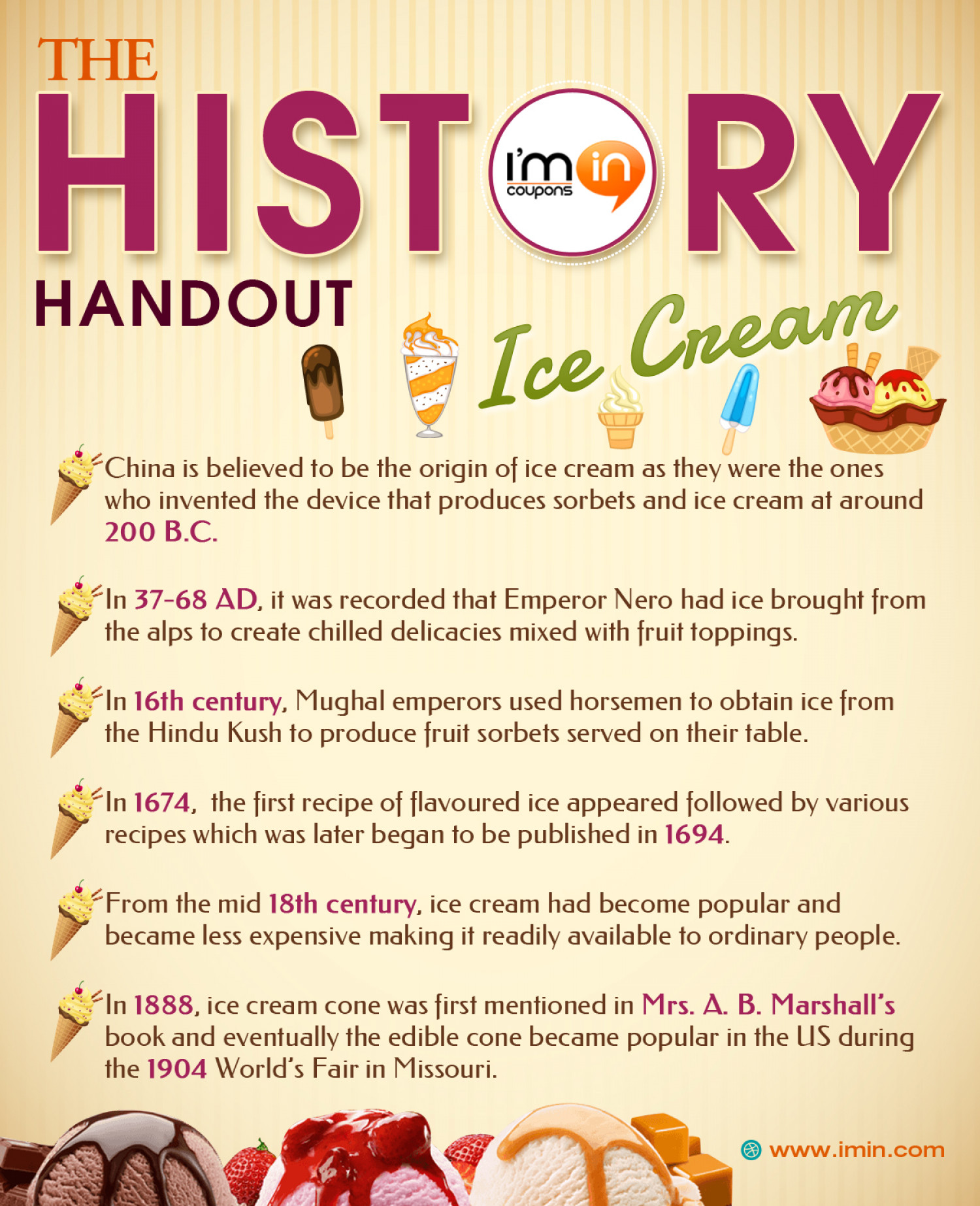 The History Handout - Ice Cream | Visual.ly