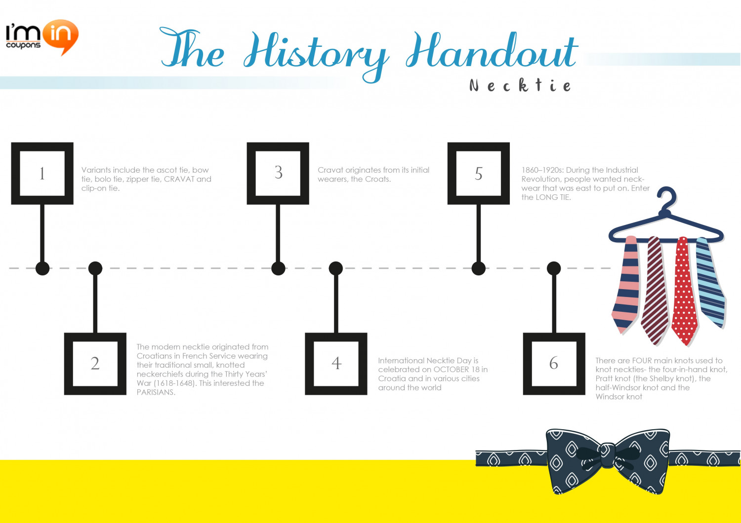 The History Handout - Necktie Infographic