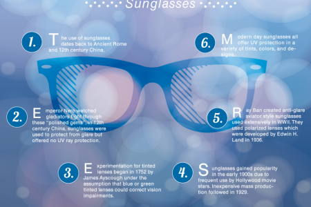 The History Handout - Sunglass Infographic