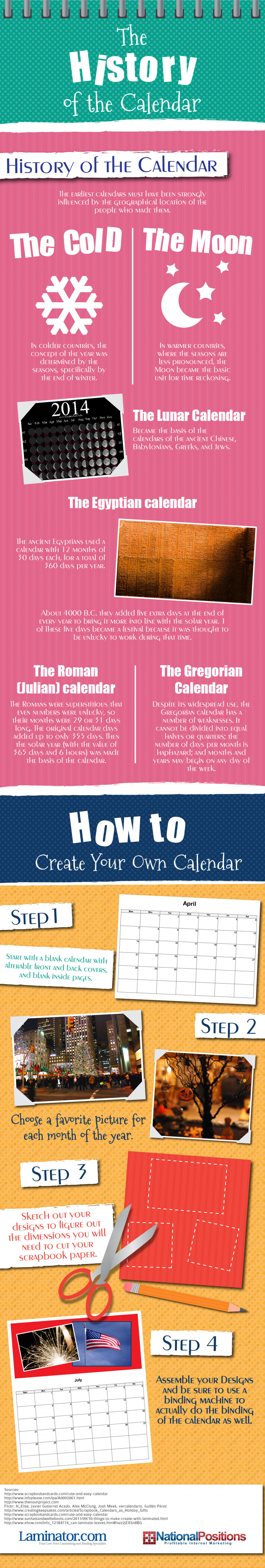 The History of the Calendar Infographic