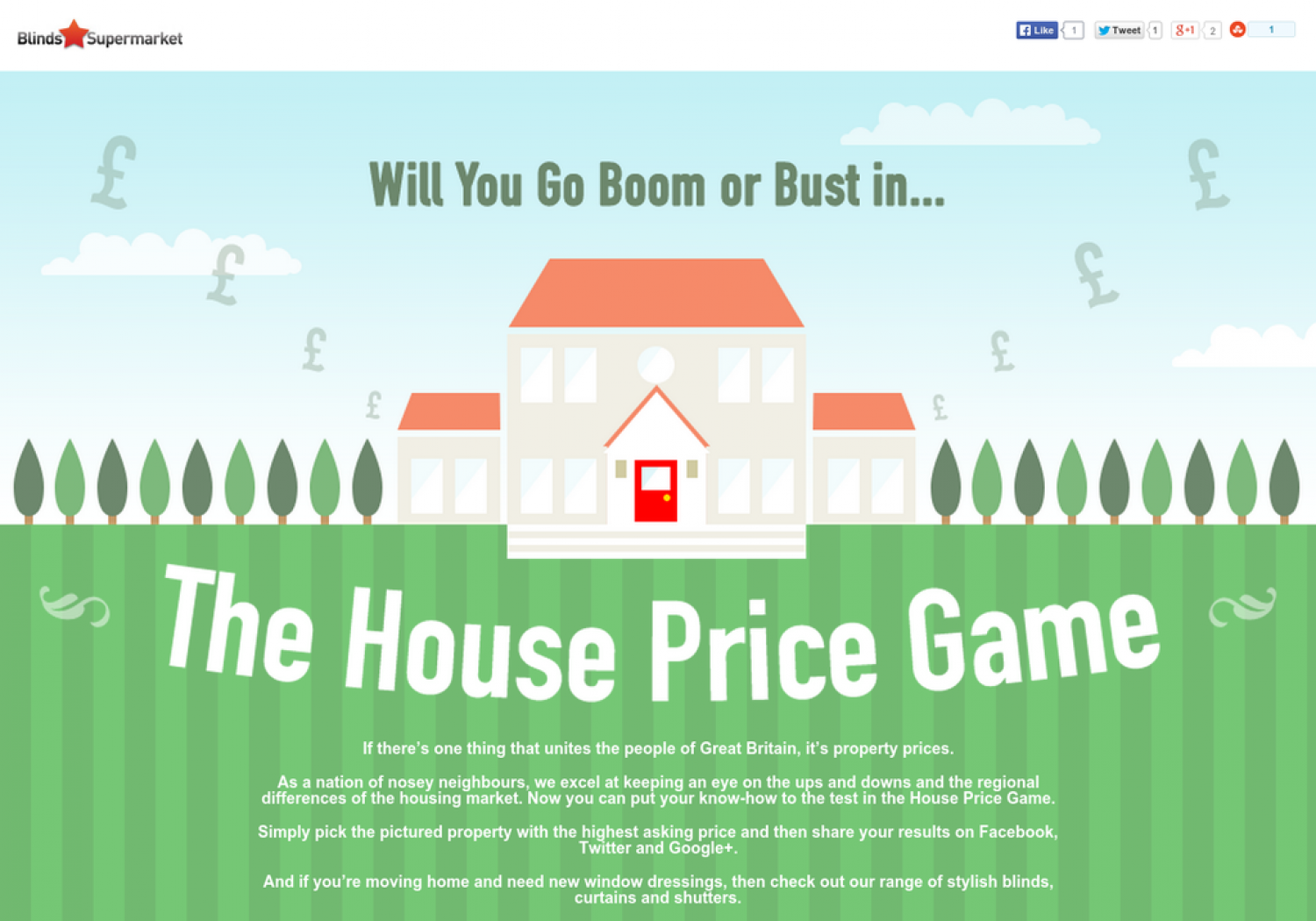 The House Price Game  Infographic