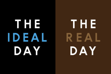 The Ideal Day vs The Real Day Infographic