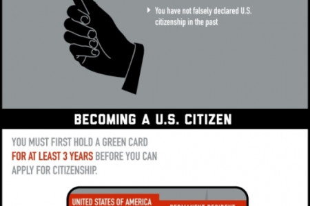 The Immigrant's Route to the American Dream Infographic