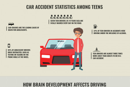 The Impact of Brain Development in Teen Driving Infographic