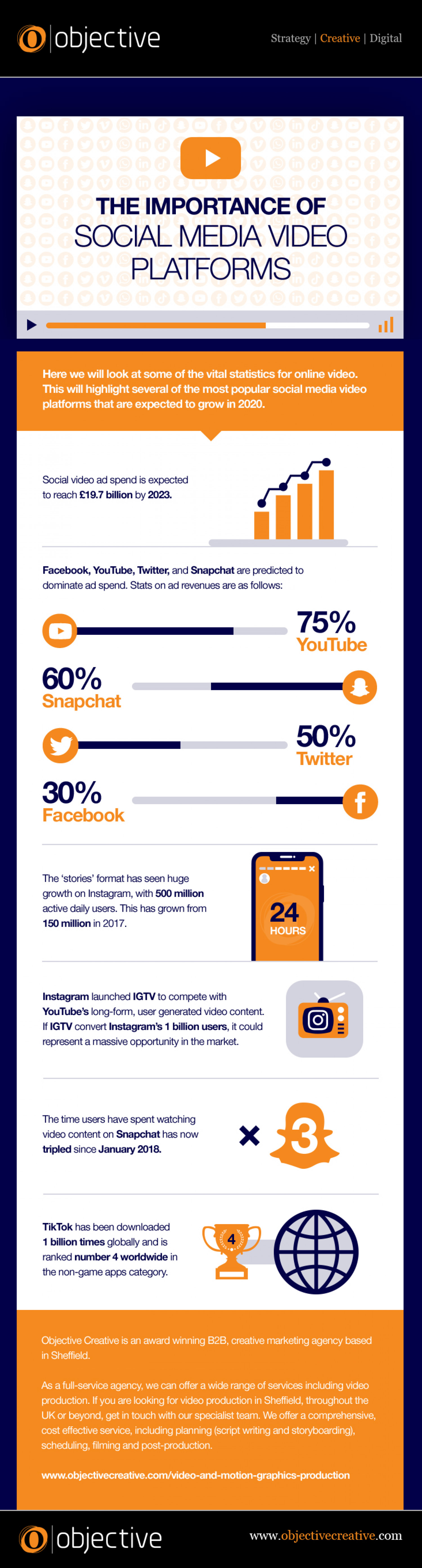 The Importance of Social Media Video Platforms Infographic