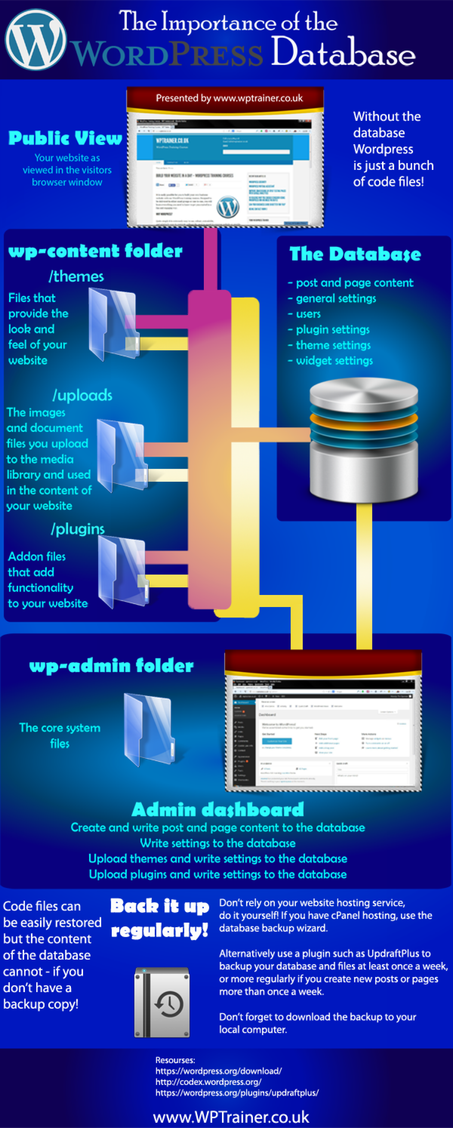 The importance of the WordPress Database Infographic