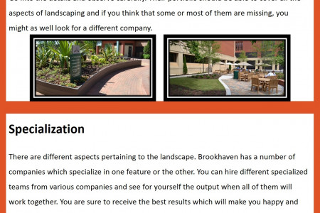 The Important Things to See in a Landscaper Infographic
