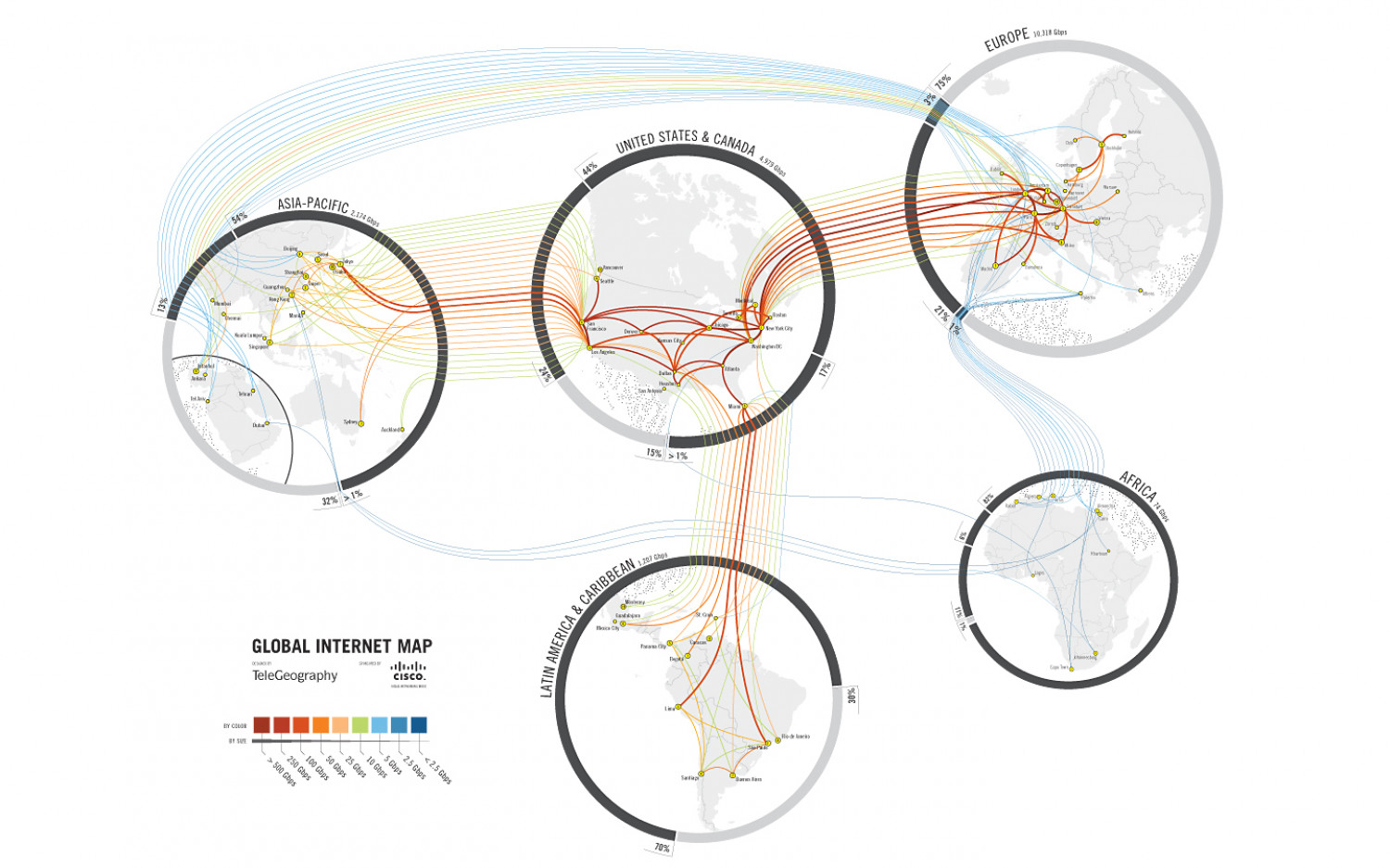 The Internet's Map of the World Infographic