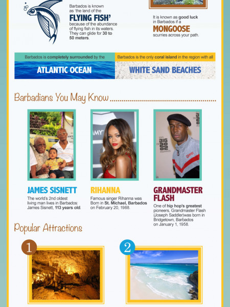 The Island of Barbados Infographic