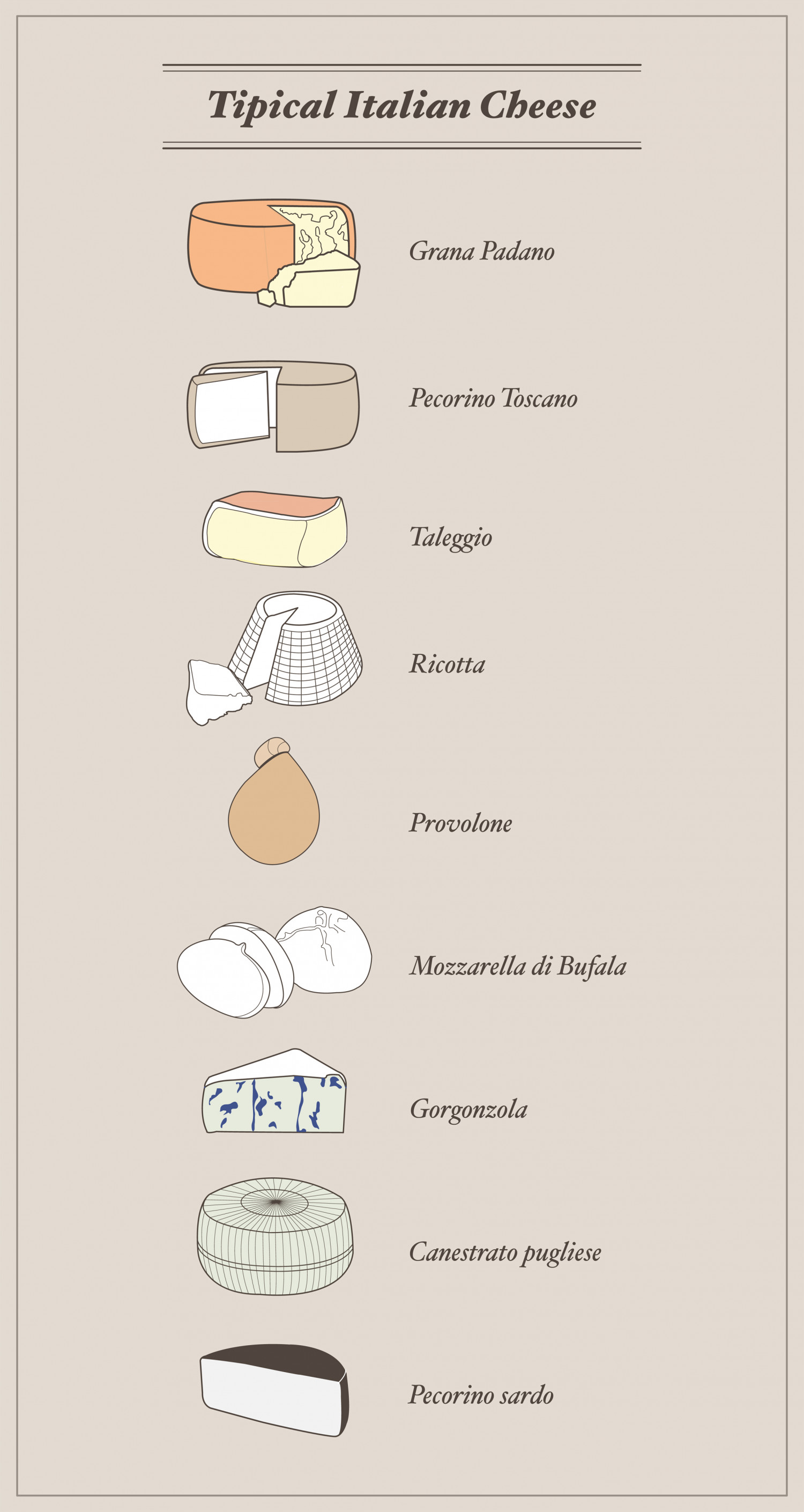 The Italian Taste | Cheese Infographic