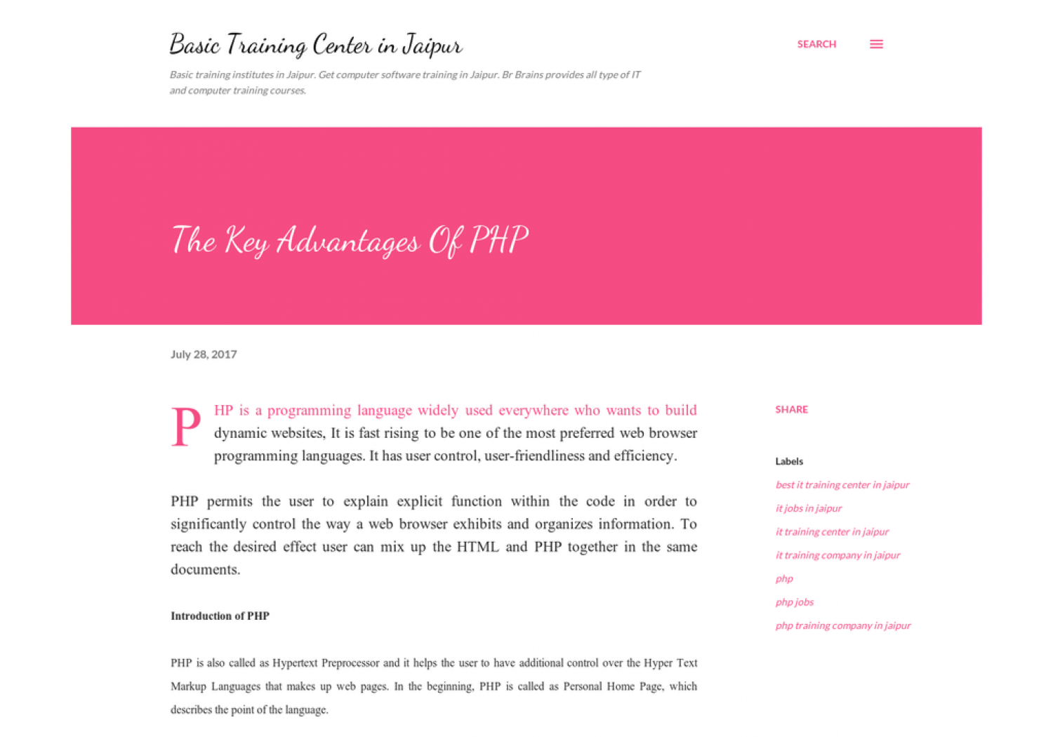 The Key Advantages Of PHP Infographic