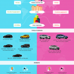 What Is The Difference Between Uber And Lyft >> The Key Difference Between Uber and Lyft   Visual.ly