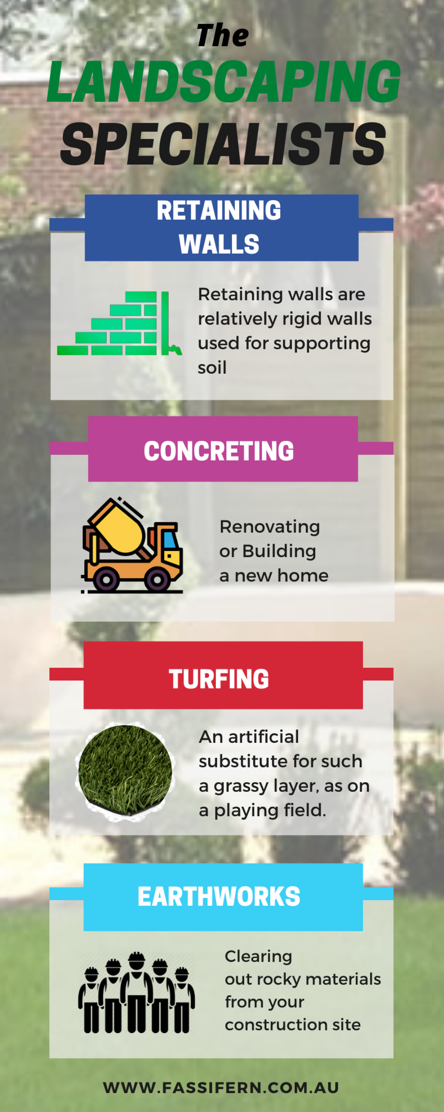 The Landscaping Specialists in Brisbane Infographic