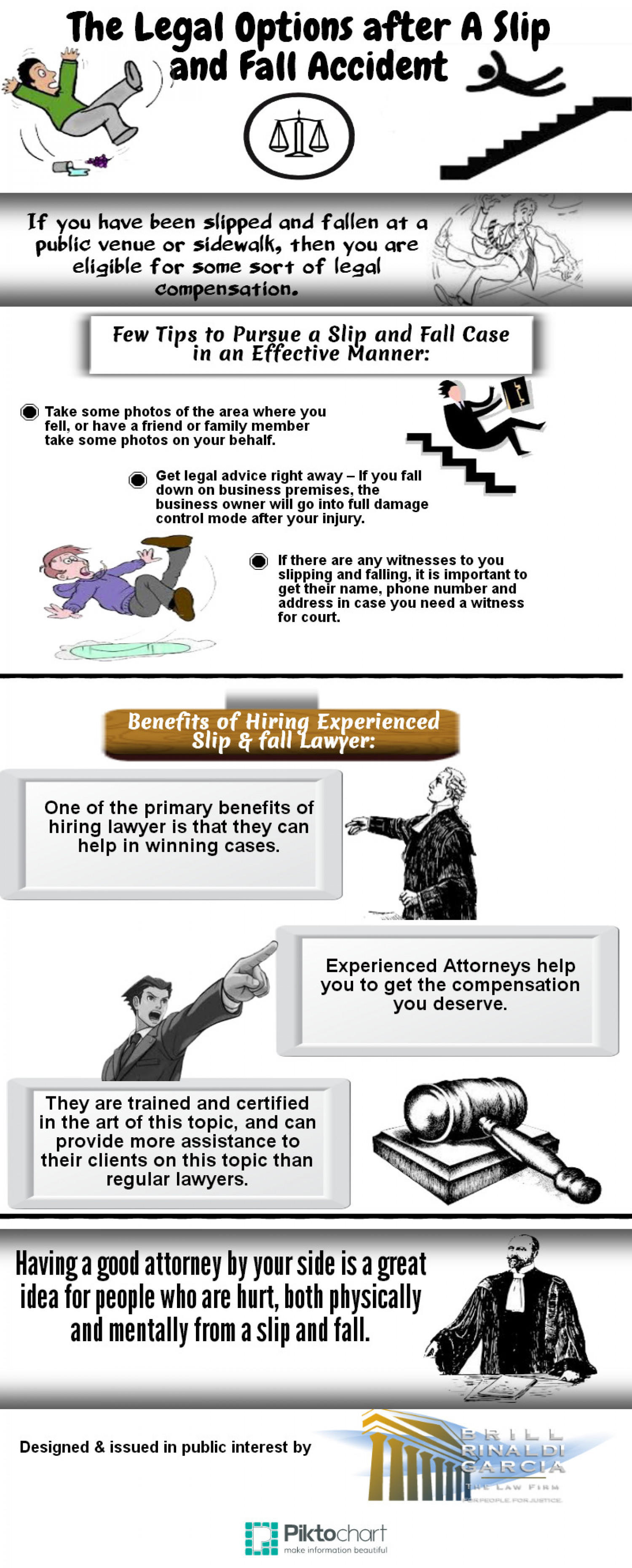 The Legal Options after A Slip and Fall Accident Infographic