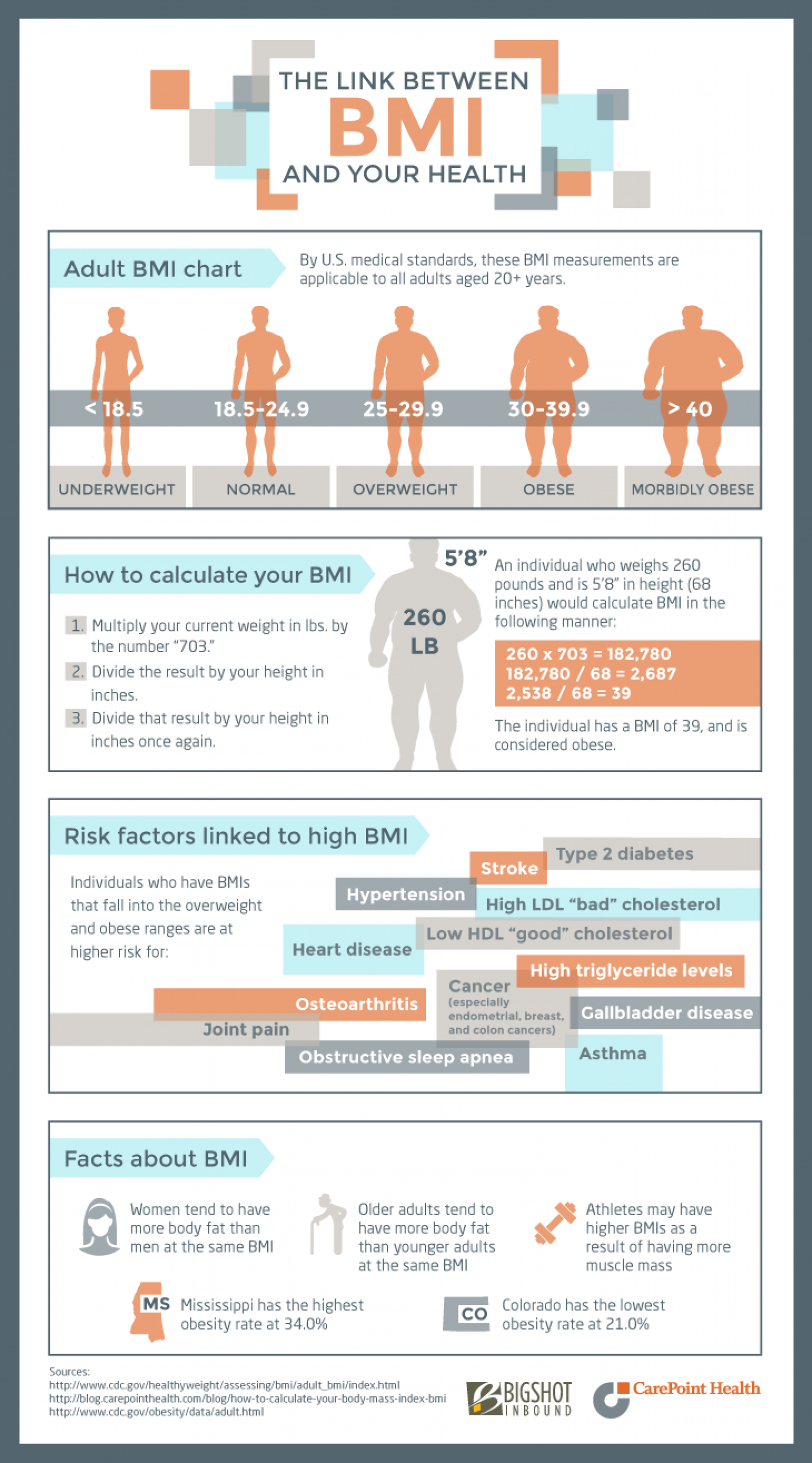 The link between bmi and your health visual the link between bmi and your health infographic nvjuhfo Gallery