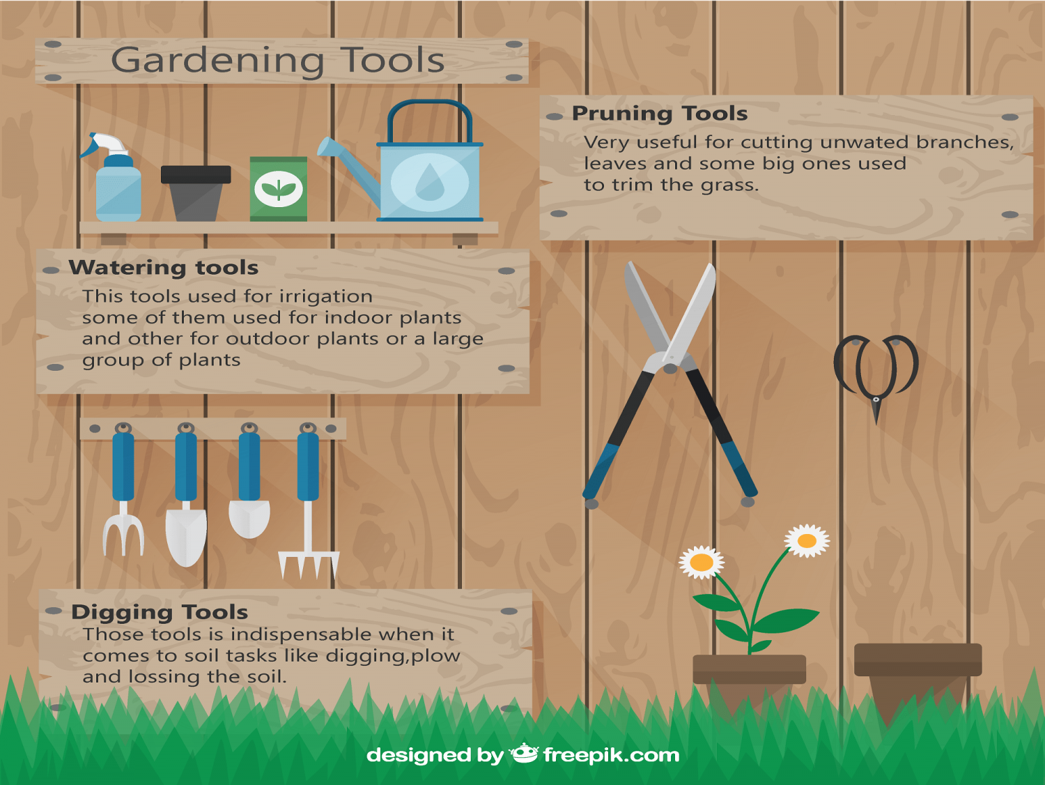 The List Of Top Gardening Tools Infographic