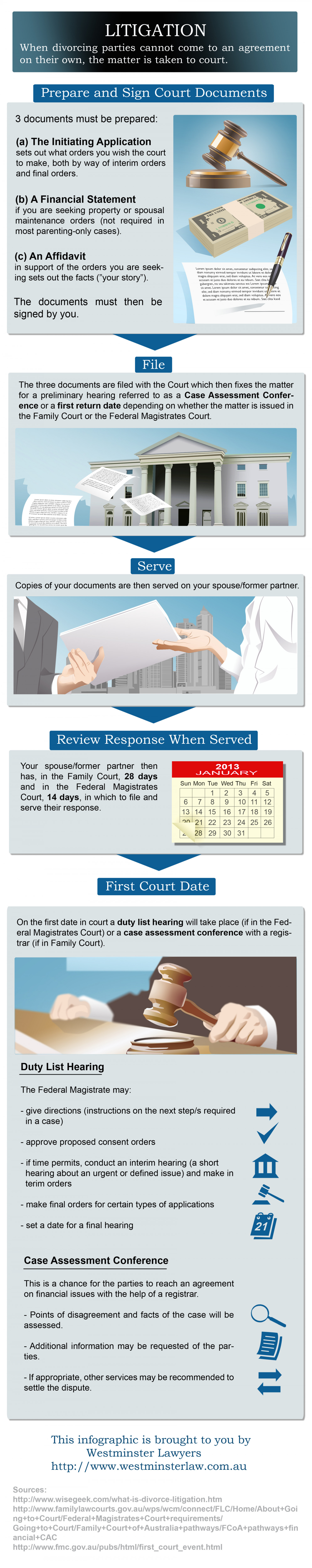 The Litigation Process Infographic