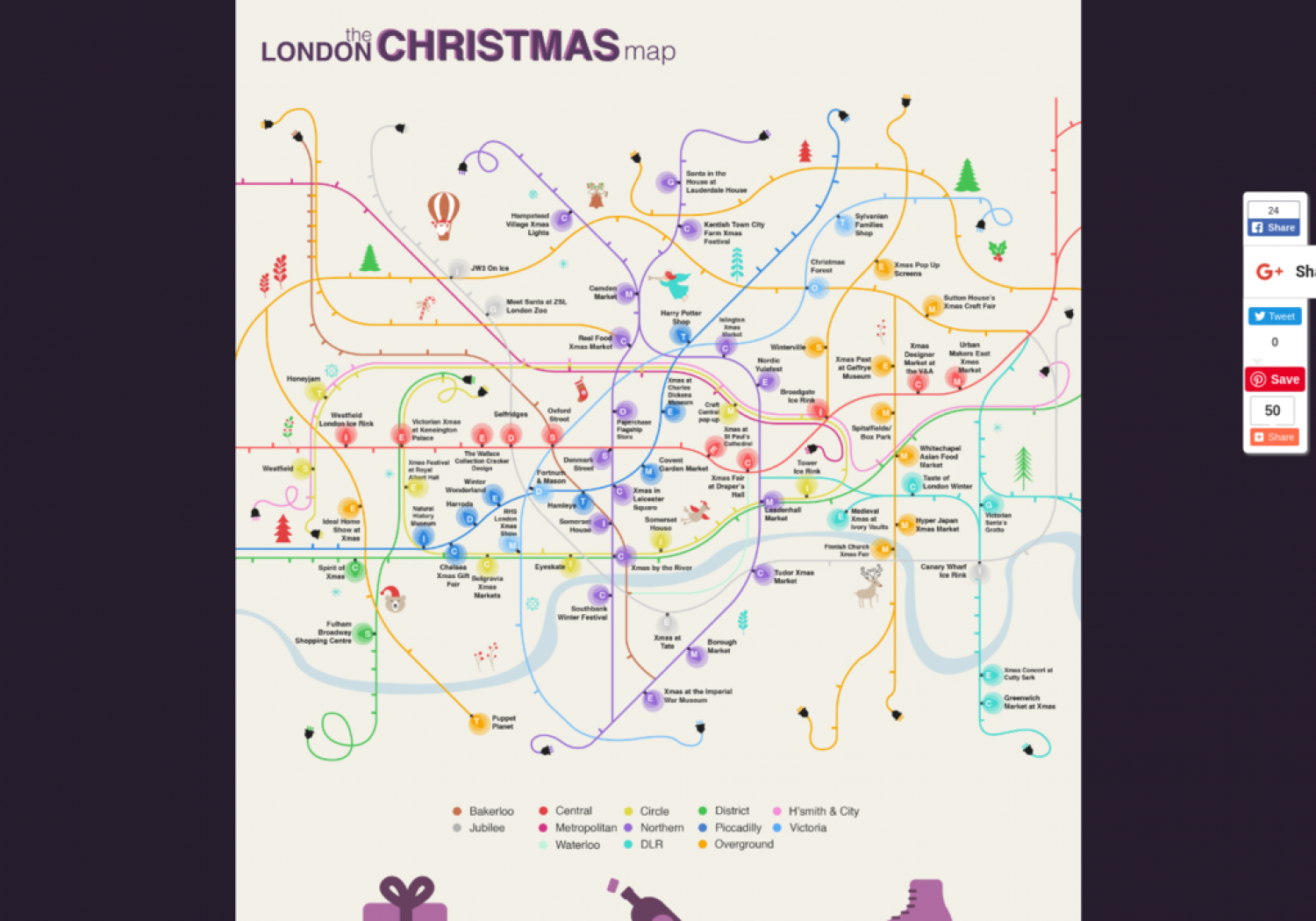 The London Christmas Map Infographic