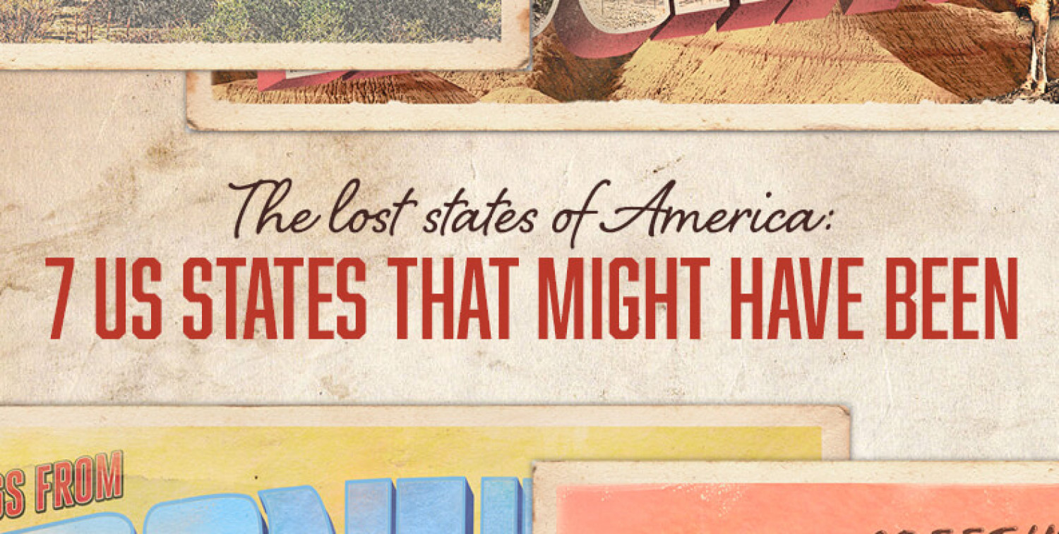 The Lost States of America: 7 US States That Might Have Been Infographic