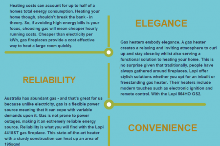 THE MAIN ADVANTAGES OFFERED BY GAS HEATERS Infographic