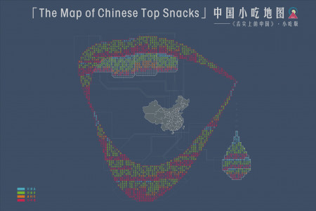 The Map of Chinese Top Snacks (best snacks in China) Infographic