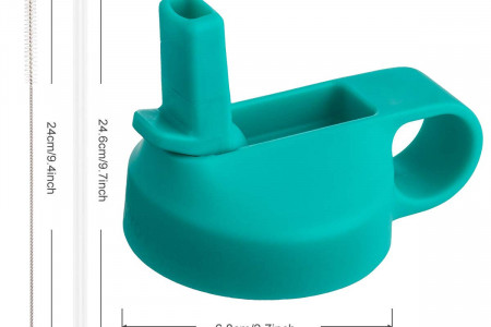 The Mass Wide Mouth Straw Lid Compatibility Most Sports Water Bottle (Mint)- Price: $12.95 Infographic