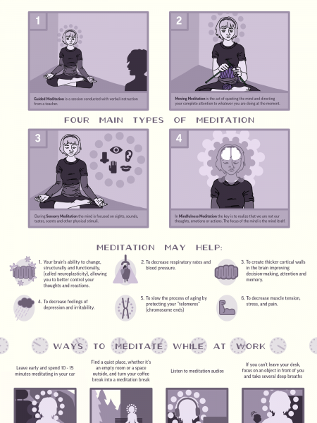 The Meditative Brain Infographic