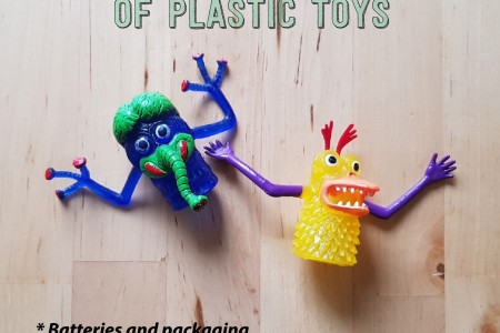 The Monstrous Pollution of Plastic Toys Infographic