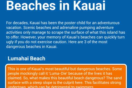 The Most Dangerous Beaches in Kauai [Infographic] Infographic