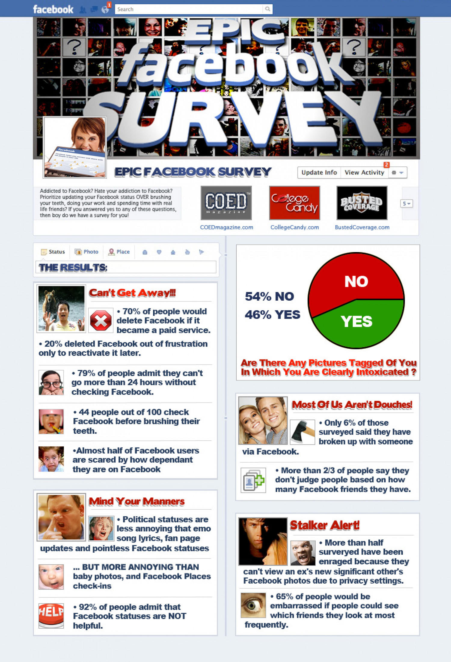 The Most Epic Facebook Survey Ever Results are In! Infographic