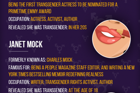 The Most Famous Female Trannies In Show Business Infographic