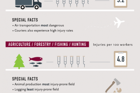 The Most Injury-Prone Professions Infographic