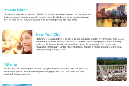 The Most Worth Exploring Destinations of The USA Infographic