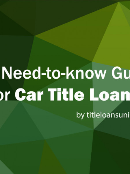 The Need-to-know Guide for Car Title Loans Infographic