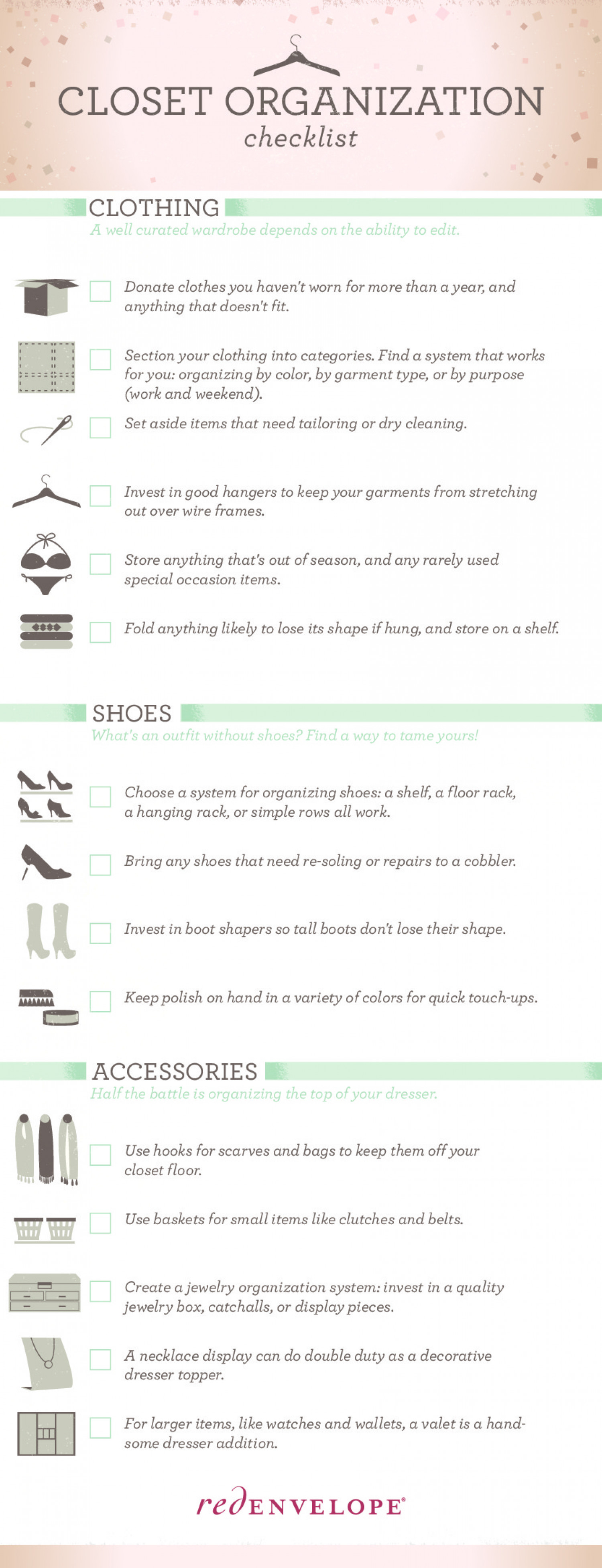 The Organized Closet Infographic