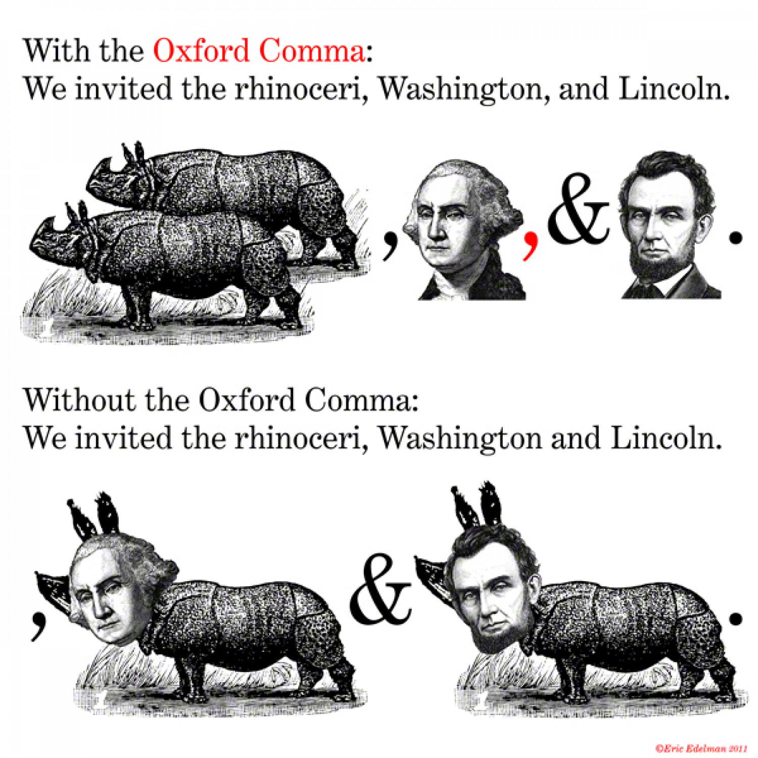 The Oxford Comma Infographic
