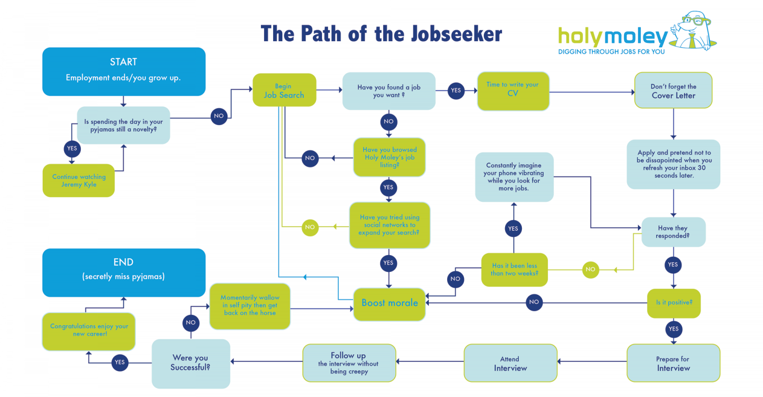 The Path of The Job Seeker Infographic