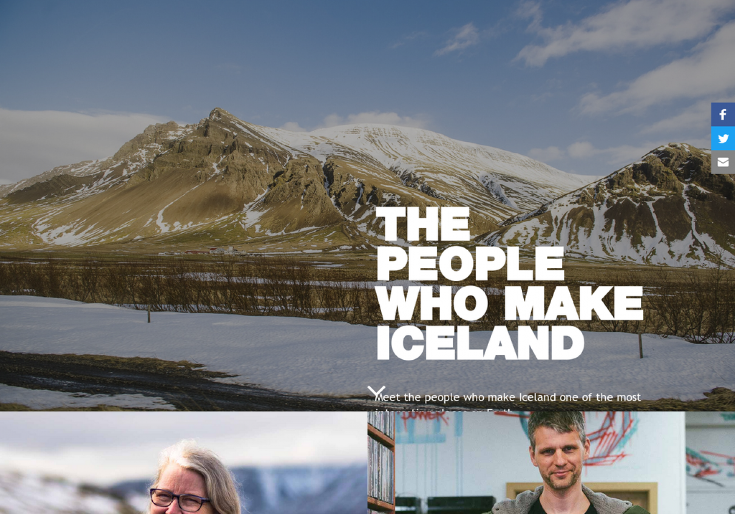 The People Who Make Iceland Infographic