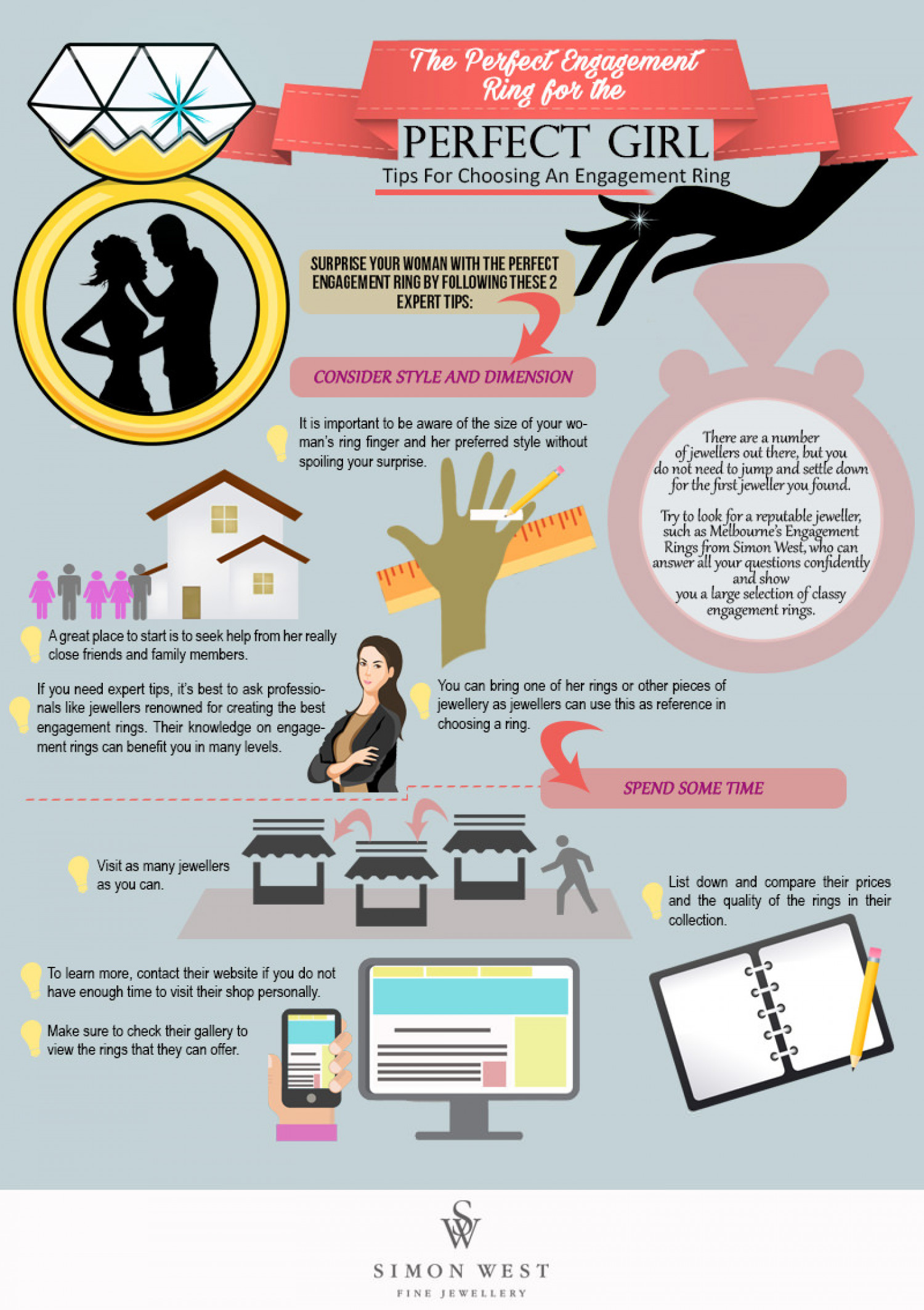 The Perfect Engagement Ring for the Perfect Girl Infographic