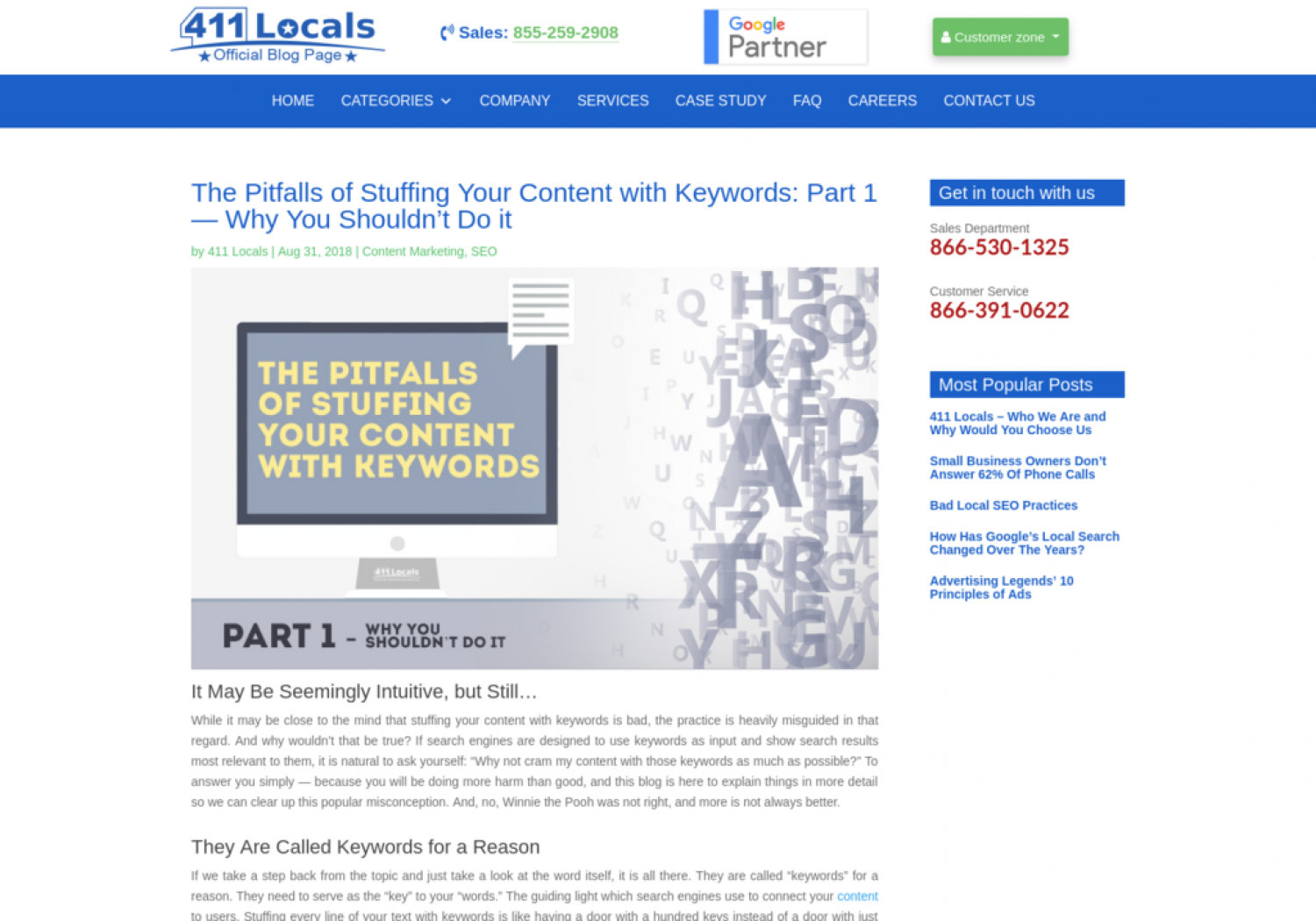 The Pitfalls of Stuffing Your Content with Keywords: Part 1 — Why You Shouldn't Do it Infographic