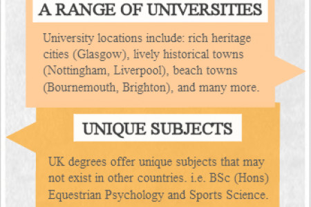 The power of a UK degree Infographic