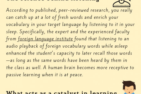 The Power of Listening in Doing Foreign Language Courses Infographic