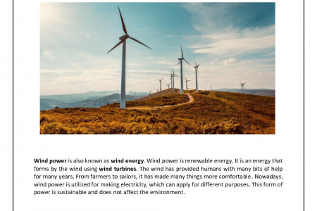 The Power of Wind Infographic