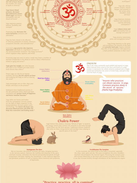 The Power of Yoga Infographic