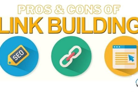 The Pros & Cons of SEO Link Building Infographic