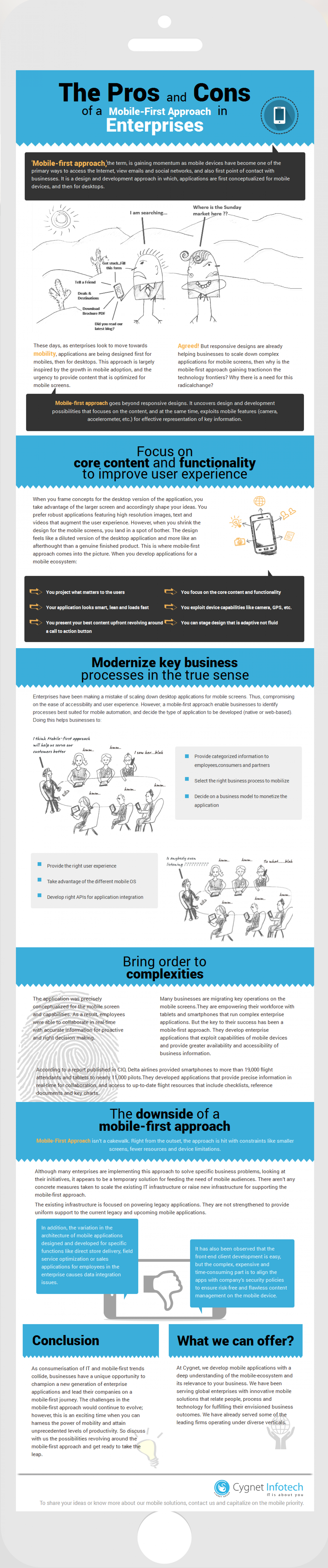 The Pros and Cons of a Mobile-First Approach in Enterprises Infographic