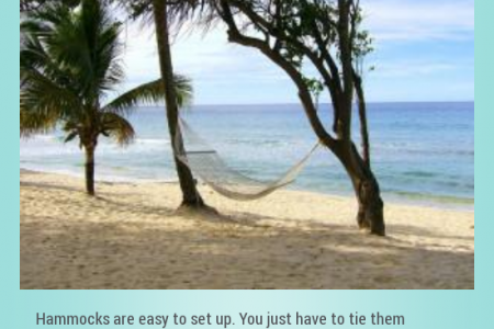 The Pros of owning a Hammock Infographic