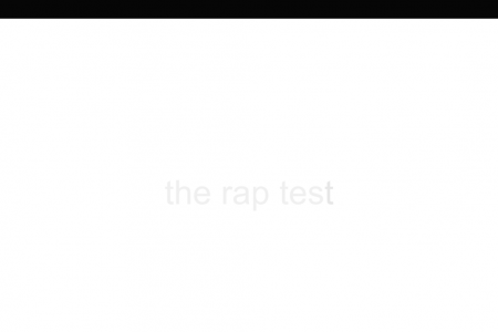The Rap Test Infographic